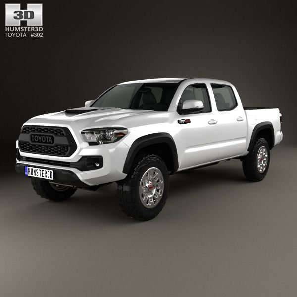 Toyota Tacoma Double Cab TRD Pro 2017 3d model from