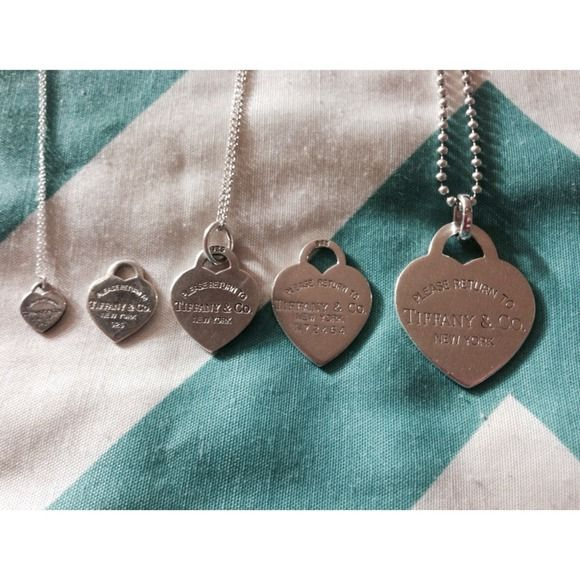 Authentic Tiffany Co Heart Sizes For Comparison Return To Tiffany Necklace Tiffany Co Tiffany Heart