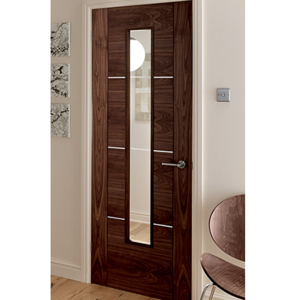 Fire rated glass office doors - Emerald Doors Have A Wide Collection Of Walnut Interior Doors And Internal Walnut Collection For Your Home Catalonia Walnut Fire Door Walnut Glazed