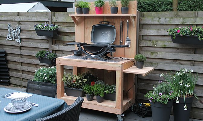 Verrijdbare buitenkeuken tuin diy outdoor kitchen outdoor