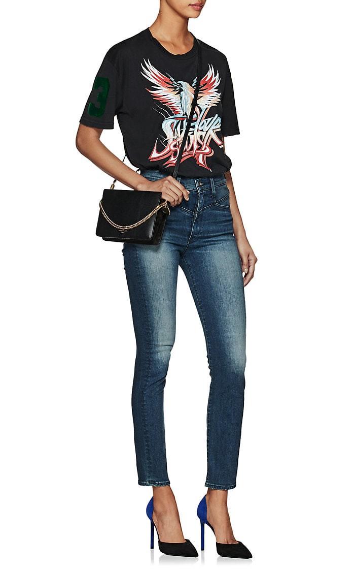 94b00c8a755db Givenchy Cross3 Leather   Suede Crossbody Bag - Black 1 Sz ...