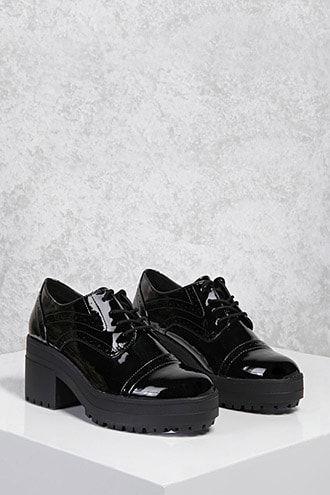 Oxford platform shoes
