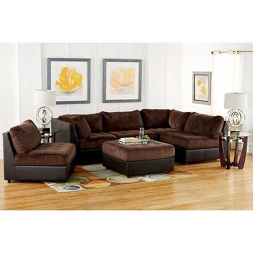 Woodhaven Living Room Furniture Pictures Of Placement Signature Ii 6 Piece Sectional Group In Brown Home Decor Cozy