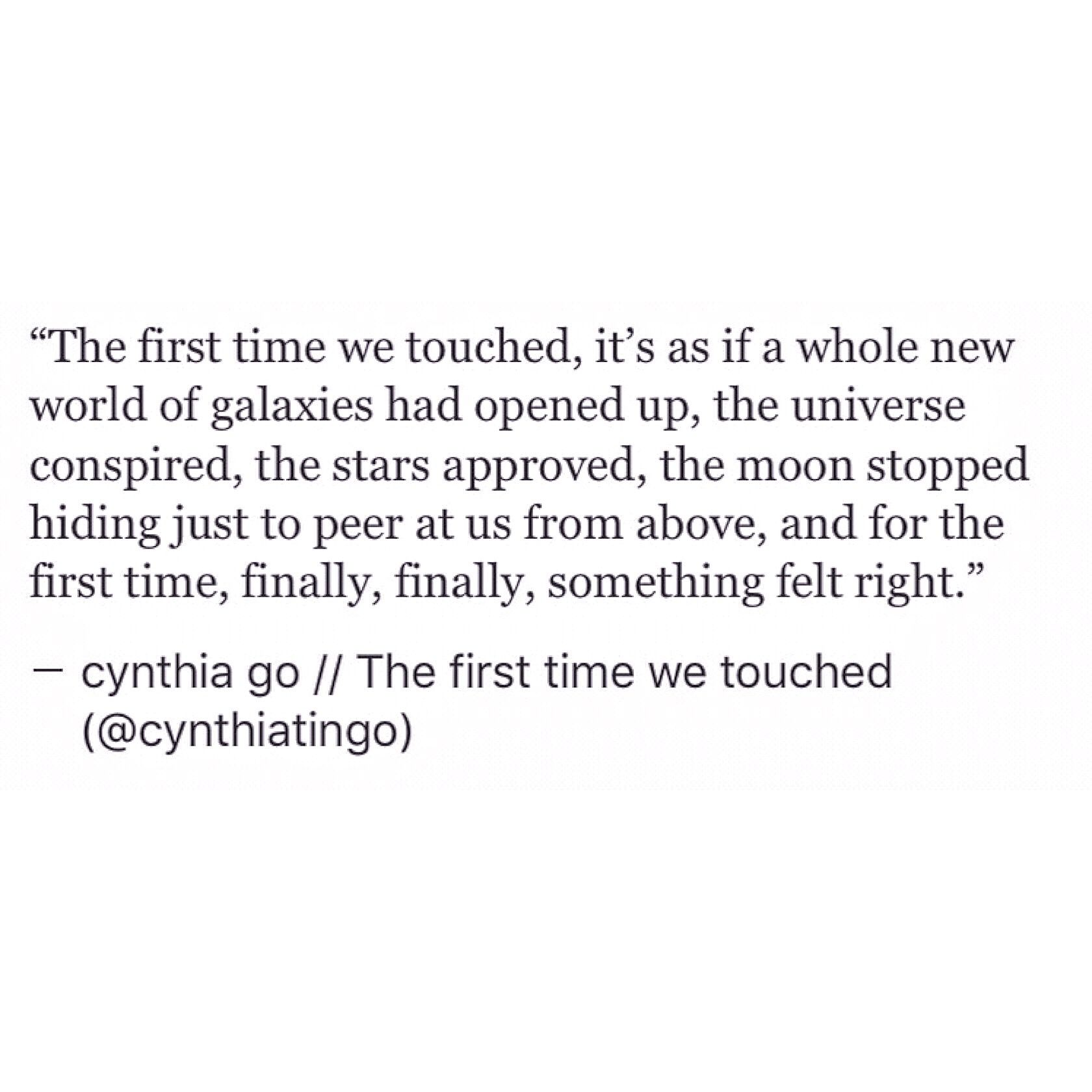 The first time we touched Inspiring Quotes TumblrTumblr