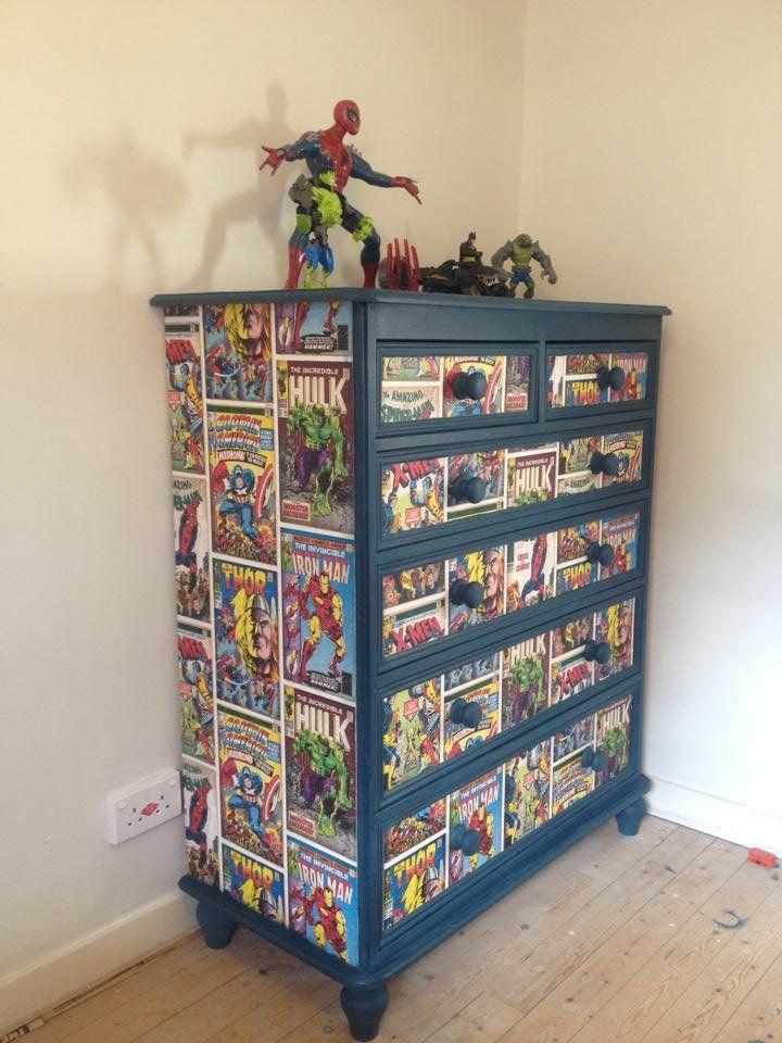 Comic Book Drawers Shabby Chic Furniture Book Furniture