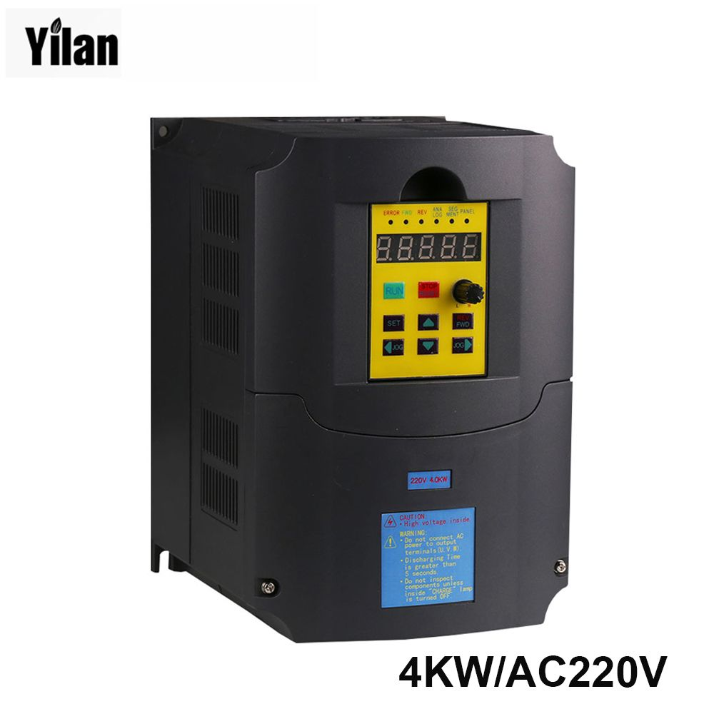 Russian Instruction! CE 220v 4kw 1 phase input 220v 3 phase output ...