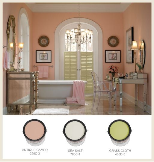 See 7 gorgeous pink paint colors that glow in any room for Pink and blue bathroom ideas