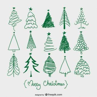 Drawing Christmas Tree Sketch.Christmas Tree Sketches Christmas Decorations Christmas