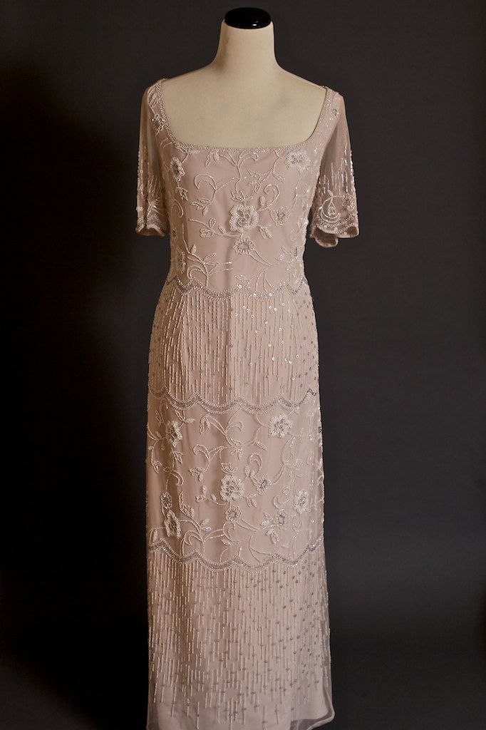 Could I go pink? Vintage Rose Sequined Bob Mackie Flapper Style Wedding Dress/Evening Gown