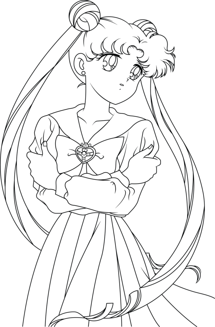 Sailor Moon Line Art by SayurixSama on DeviantArt Sailor