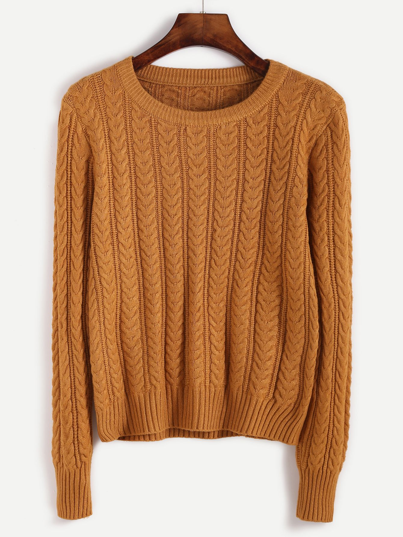 Yellow Cable Knit Fitted Sweater | Cable knitting, Cable and Wardrobes