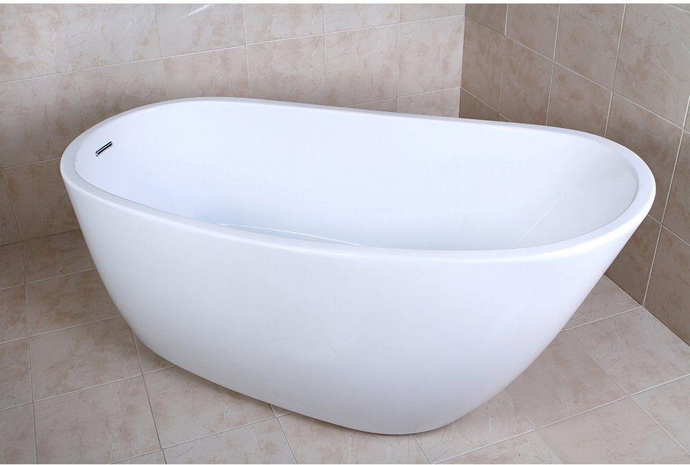 Charming KINGSTON BRASS VTRS592928 59 Inch Contemporary Freestanding Acrylic Bathtub