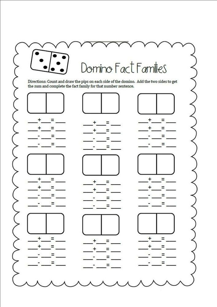 Fact Families Worksheets First Grade Blank. Also see the