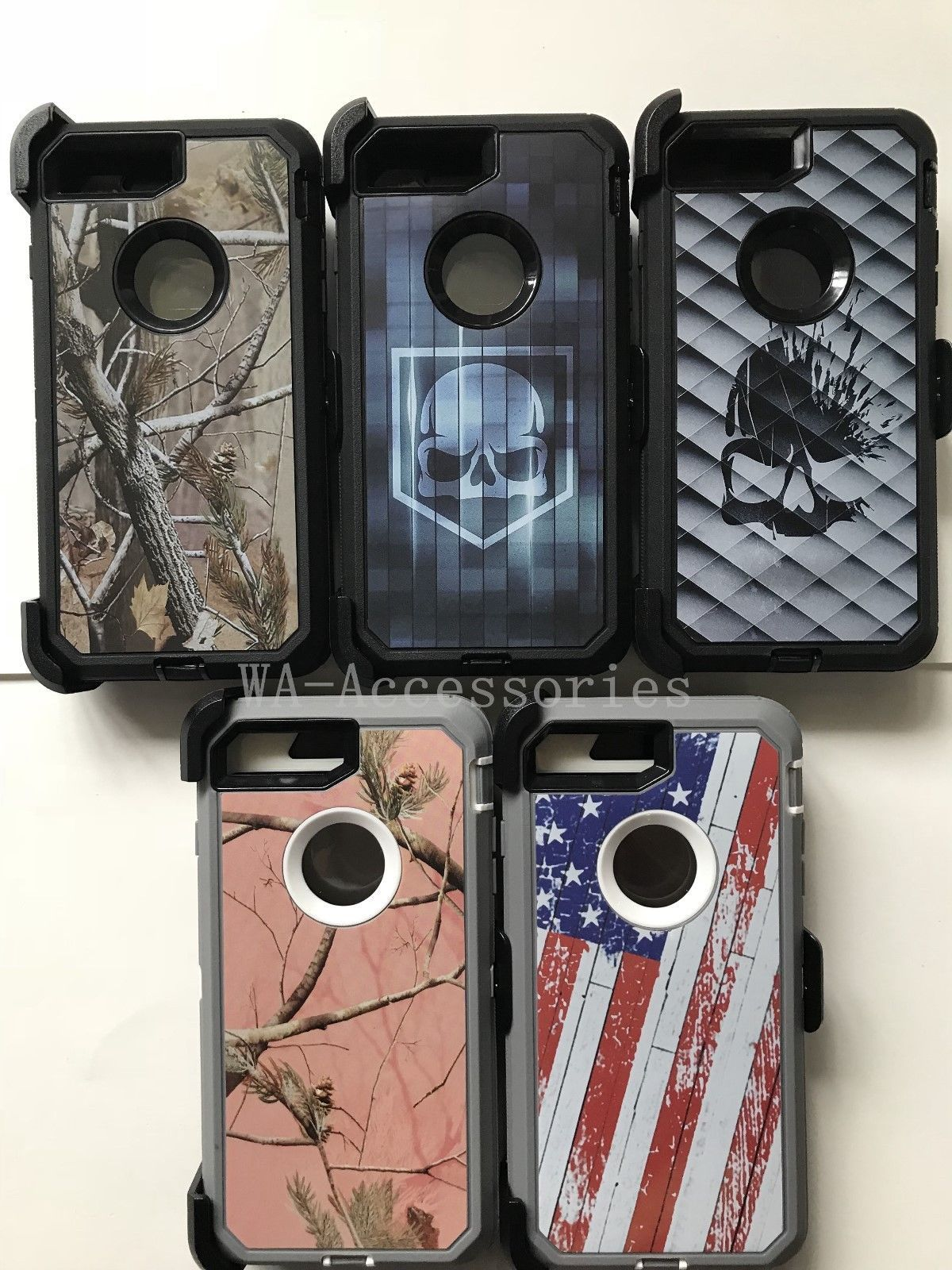 online retailer ccad5 31b08 Camo Case For iPhone 7 Plus & iPhone 8 Plus With (Clip Fits Otterbox ...