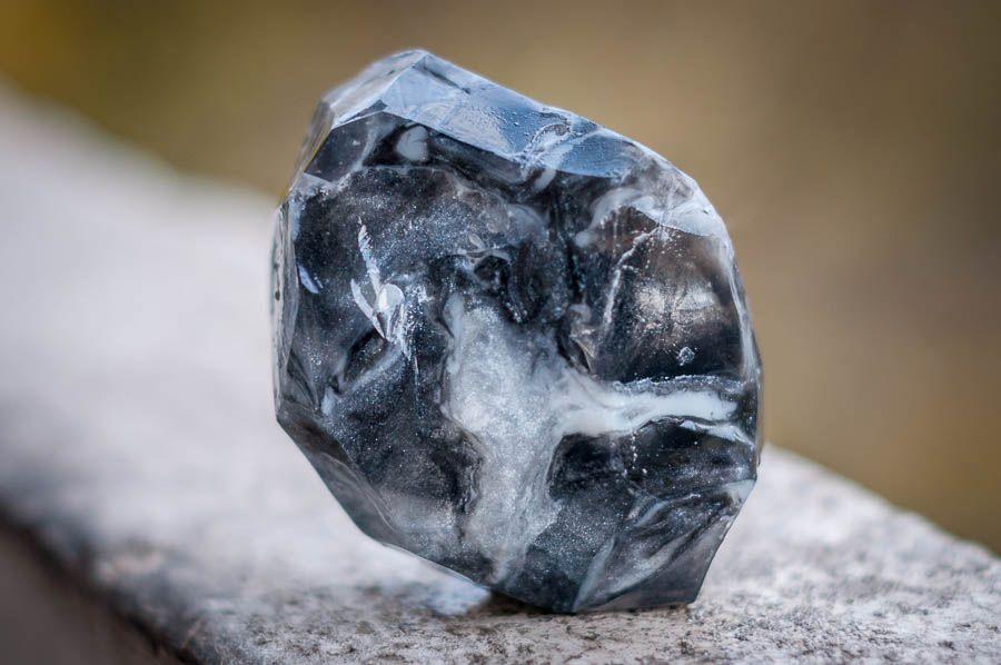 black quartz hand-made soap-gem