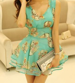 """Cute sleeveless dress with an allover skull/roses print. Made of Chiffon/Yarn material.  Size: S/M Bust: 32.28"""" Shoulder: 14.17"""" Waist: 26"""" (Adjustable) Length: 30.31""""  Shipping: For this item, please allow up to 15-26 business days for delivery after shipment."""