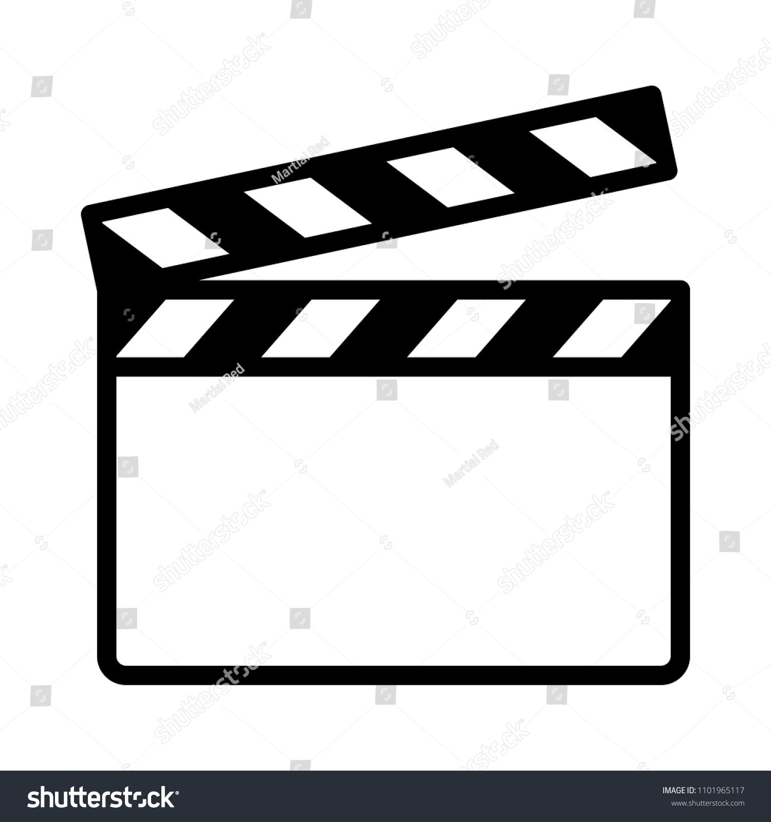 Movie Clapperboard Or Film Clapboard Line Art Vector Icon For Video Apps And Websites Ad Affiliate Clapboard Line Film Movie Line Art Vector Line Art Art