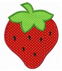 Strawberry Applique 3 Sizes Fruit Vegetables Machine