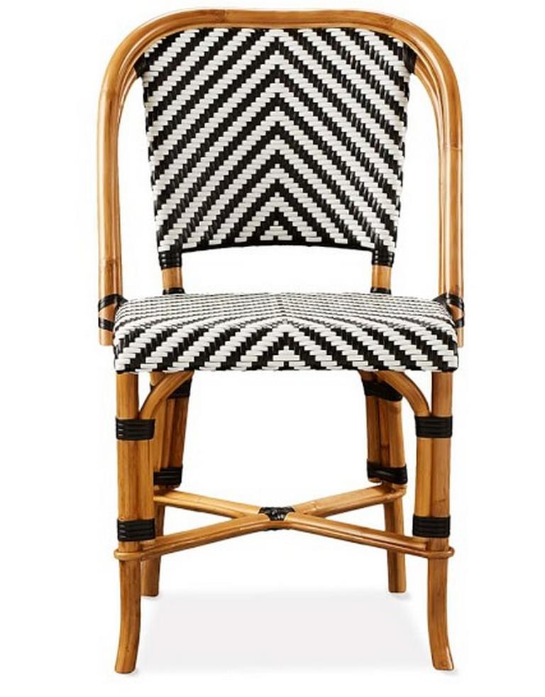 Blanco y negro en esta silla de rattan decoraci n for Sillas ratan