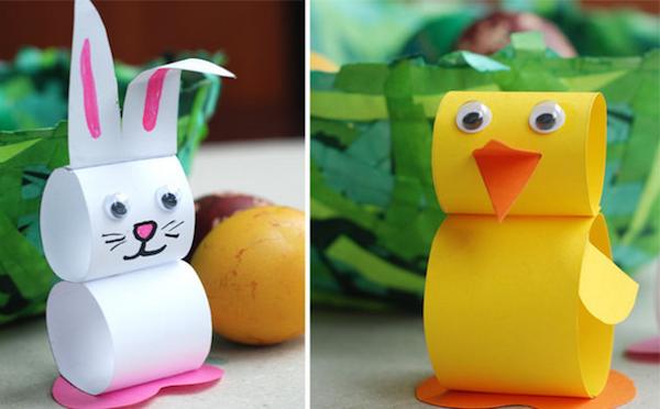 Animales fáciles de papel | Manualidades sencillas para niños ...