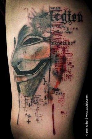 Mask From V For Vendetta Vendetta Tattoo V For Vendetta Tattoo Tattoos