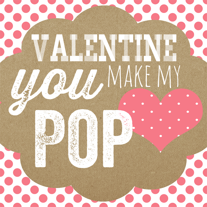 photograph regarding You Make My Heart Pop Valentine Printable named Valentine-Yourself-Deliver-My-Center-POP-Printable-#whipperberry
