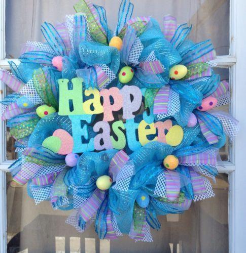 Easter Deco Mesh Wreath https://www.etsy.com/shop/IslandGirlWreaths?ref=l2-shopheader-name