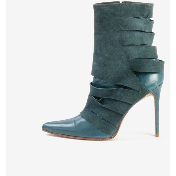 Christian Dior Ankle Boots (82 CAD) ❤ liked on Polyvore featuring shoes, boots, ankle booties, leather bootie, pointed toe ankle boots, pointed toe booties, stiletto booties and pointy-toe ankle boots