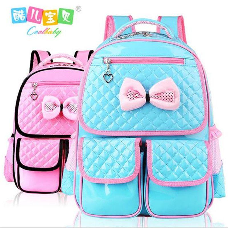Hot buy child backpack schoolgirl book bag nylon waterproof pink 1 ...