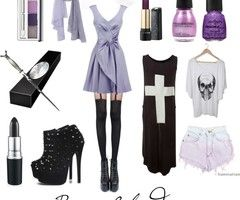 Image result for simple pastel goth outfits