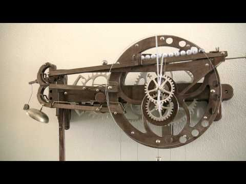 Clayton Boyer S Marble Strike Clock Gears In Motion