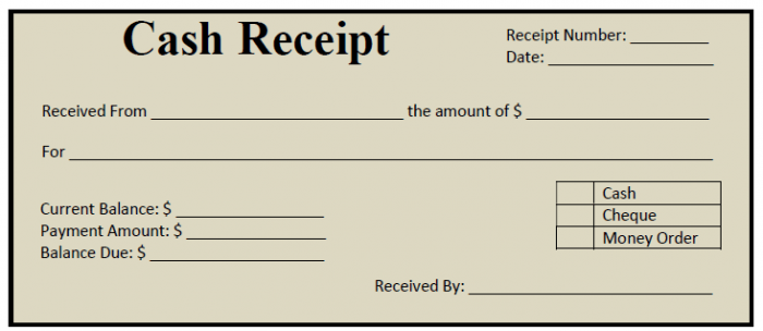 Cheque Receipt Template 50 Free Receipt Templates Cash Sales Donation Taxi Template Lab .