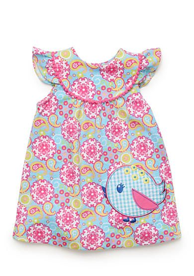 Nursery Rhyme Play 2 Piece Paisley Bird Dress And Bloomer Set