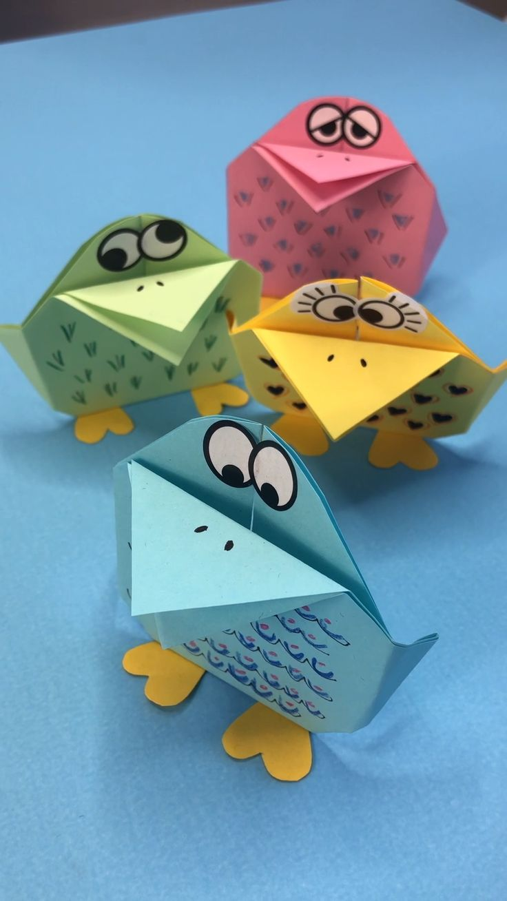 Easy Origami Bird For Kids Papercraft Pinterest Manualidades