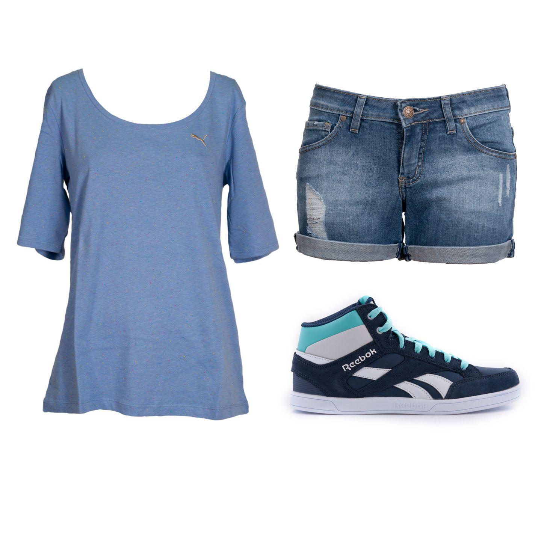 #EstiloMVD Verano deportivo! Cuál es tu preferido? zapatillas deportivas en Reebok, remera de La Cancha, short de Rip Curl.