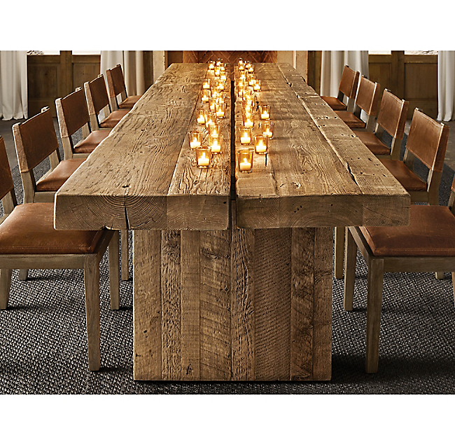 Reclaimed English Beam Plank Dining Table Dining Table Modern