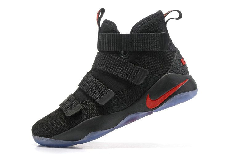 b8849da027a7 Photos Nike Zoom New Lebron Soldier 11 XI Black University Red