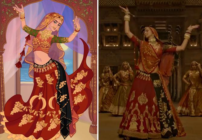 """Movie Padmavati, """"Ghoomar""""Song Deepika Padukone Illustration"""