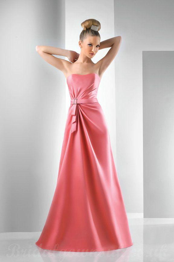 long pink coral bridesmaid dresses | Buy cheap Satin Coral Bridesm ...