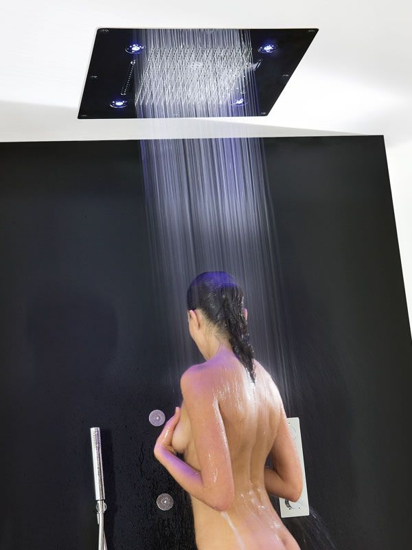 HI-SPA 600 is a large built-in shower head. Choose the waterfall ...