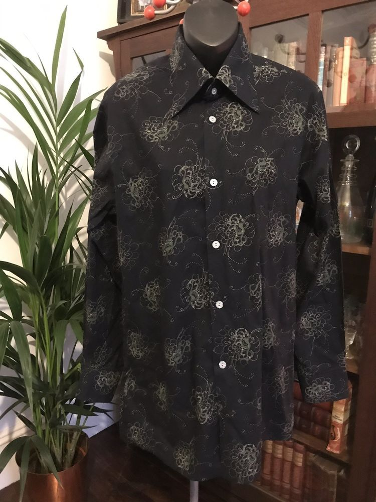 70s Original Vintage Deadstock Men S Patterned Shirt By Peter
