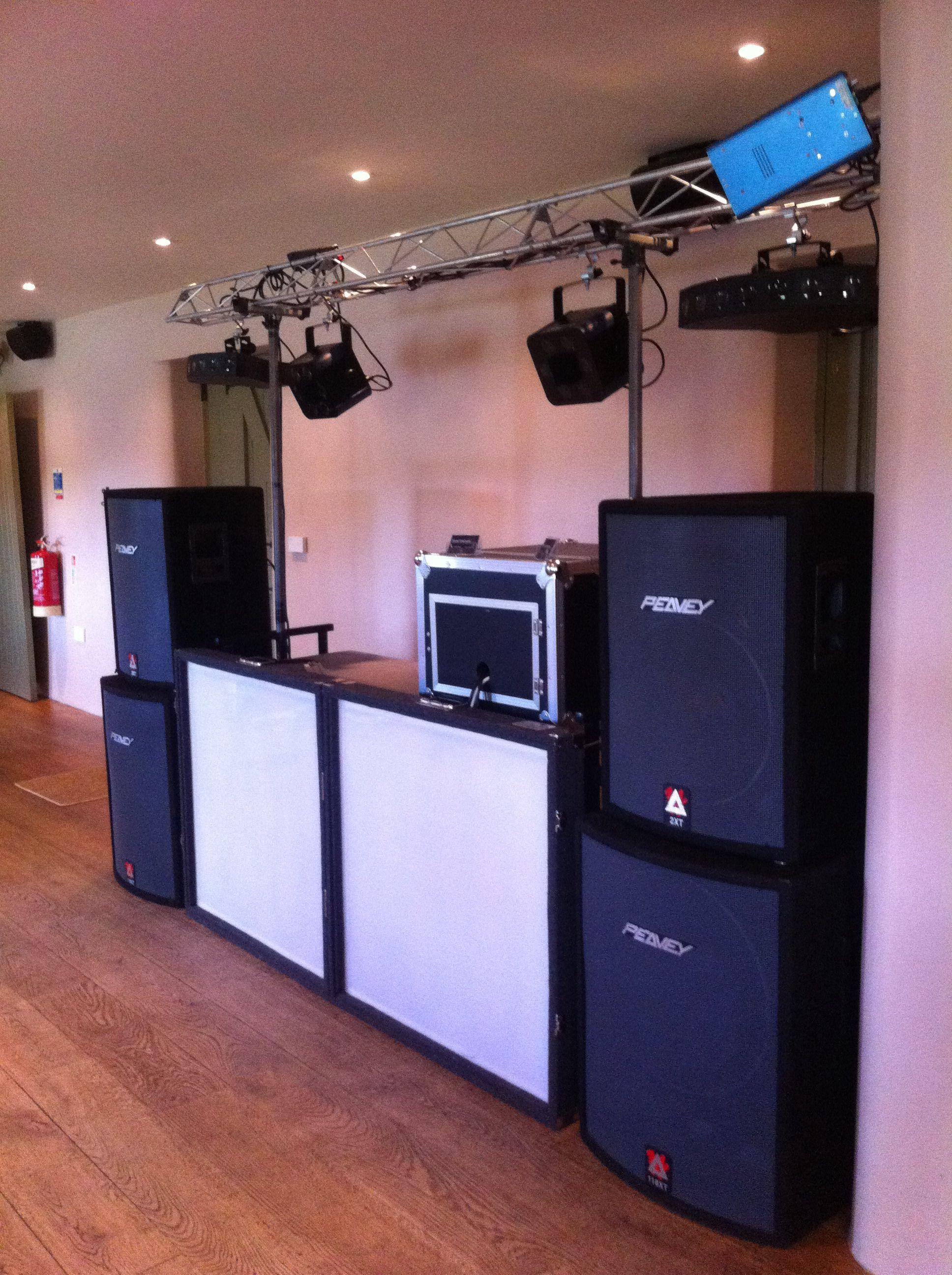 Staffordshire Wedding dj setup, Dj setup
