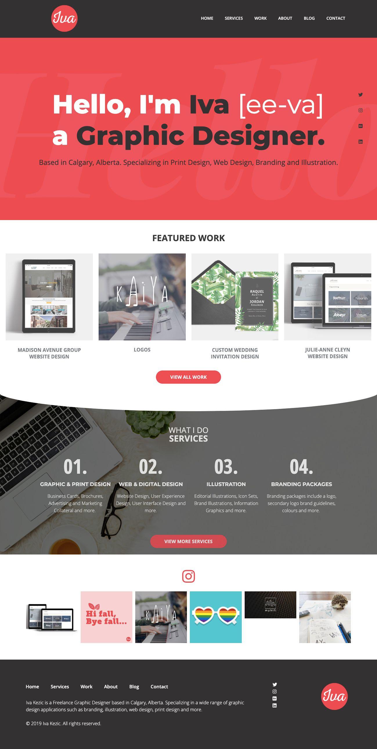 Freelance Graphic Designer Website In 2020 Graphic Designer Portfolio Portfolio Website Design Graphic Design Website