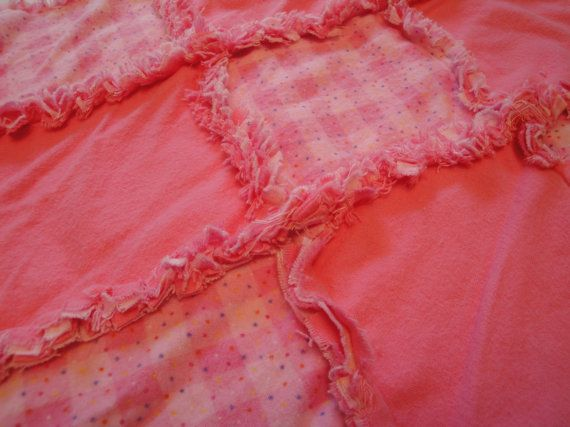 Pink Gingham Raggy Blankie