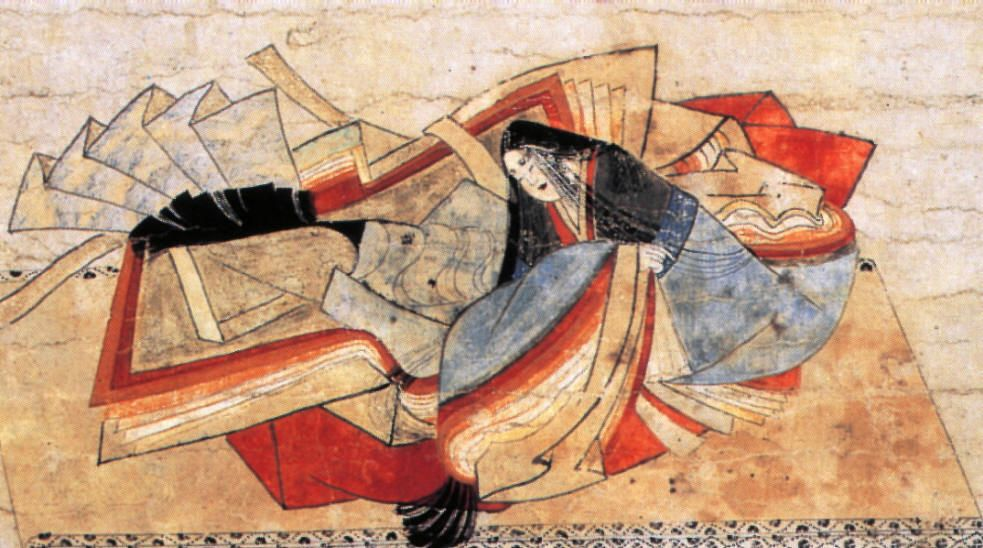 Heian lady, buried in her clothing