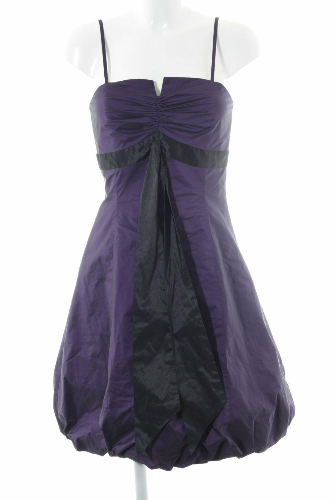 swing abendkleid lila-schwarz elegant damen gr. de 36 kleid