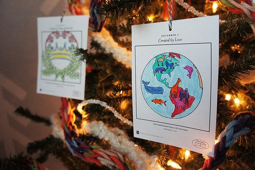 kids ornaments to color. coordinate with book Unwrapping the Greatest Gift by Ann Voskamp