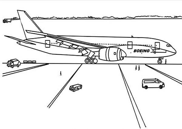 Pin By Coloringsky On Airport Coloring Pages Color By Numbers Boeing 787 Dreamliner Coloring Pages