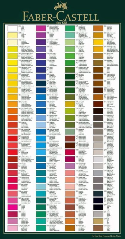 Polychromos : polychromos, Faber, Castell, Polychromos, Singles, Beloved, Artists', Pencils, Color, Mixing, Chart,, Pencil, Artist