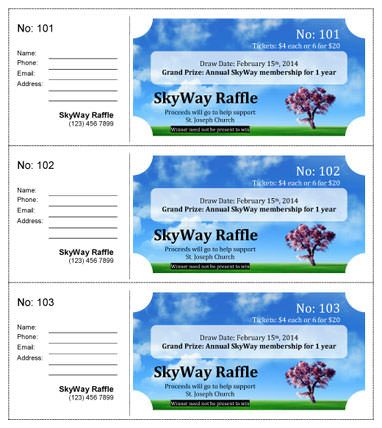 Printable Blank Raffle Tickets | Free Raffle Ticket Template For